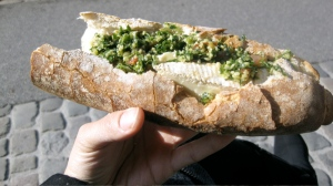 Pourquoi pas? Presenting the brie and tabouleh sandwich.